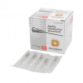 10128 agulha hipodermica descartavel cx c 100 und descarpack 25 x 0 70 mm 22g 1 cinza