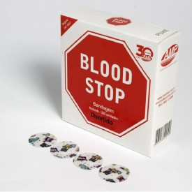 11152 curativo redondo p retirada de sangue cx c 500 und blood stop infantil