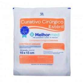 11144 curativo cirurgico esteril algodoado 10 x 15 cm pct c 1 und melhormed