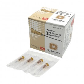 10115 agulha hipodermica descartavel cx c 100 und descarpack 13 x 0 45 mm 26g 12 marrom