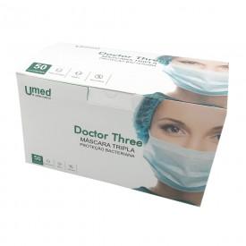 14117 mascara tripla branca com elastico cx c 50 und umed doctor three