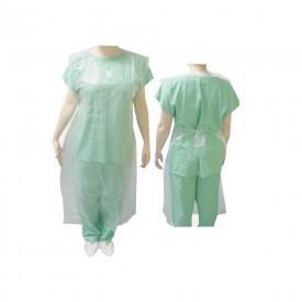 13987 avental plastico capa protetora de corpo 90 x 150 cm pct c 100 und estereli med