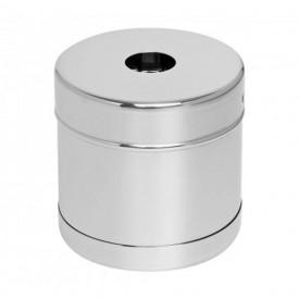12531 porta algodao inox c mola 08 x 08 cm 400 ml aconox