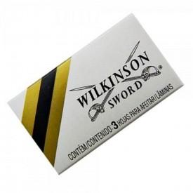 11943 lamina de barbear tipo gilete cx c 3 und wilkinson