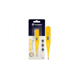 13058 termometro clinico digital incoterm termo med amarelo