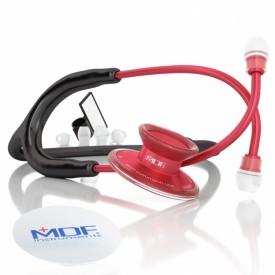 14235 estetoscopio adulto duplo em aliminio mdf instruments acoustica 747xp vermelho e preto